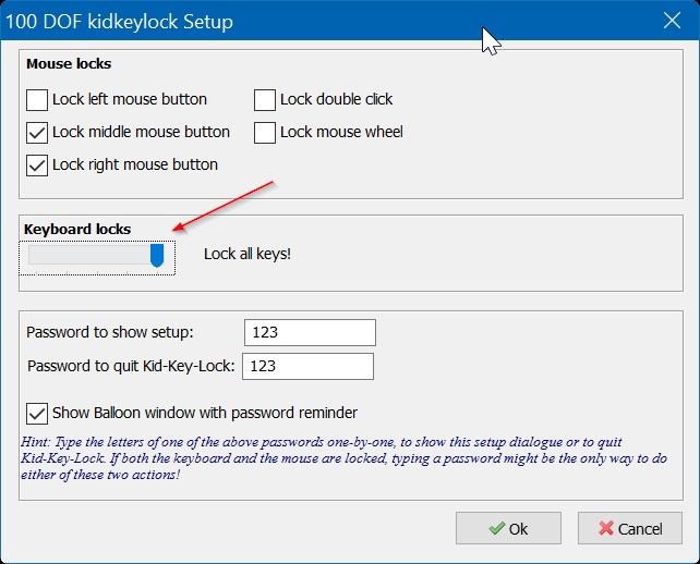 Kidkeylock для защиты паролем
