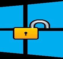 Убрать пароль при включении