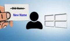 Windows 10 как изменить имя учетной записи